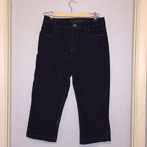 Dark Blue Capri Jeans